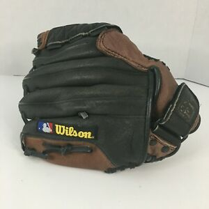 WILSON A0450PG105 RHT Dual Hinge Baseball Glove Leather Youth 10.5 inch