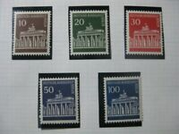 BERLIN GERMANY Mi. #286-290 mint MNH stamp lot w/ coil numbers! CV $68.50
