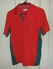 Columbia Mens Small Omni-Shade Embroidered Short Sleeve Golf Shirt
