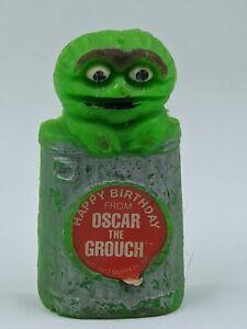 Vtg 1970s Wilton Sesame Street Candle Oscar Grouch Birthday Decoration no wick