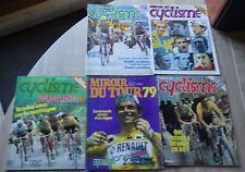 MIROIR DU CYCLISME Nr 270 271 275 276 277 (1979) tour de France POSTERS