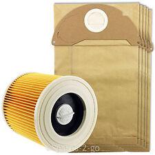 KARCHER humide et sec aspirateur hoover cartouche filtrante + 5 PK des sacs à poussière WD2200 WD2240