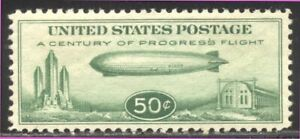 U.S. #C18 Mint XF NH - 1933 50c Zeppelin ($75)