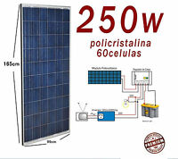 Placa Solar 250w 12v 24v Panel Solar Fotovoltaico Polycrystalline