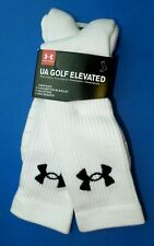 Under Armour Men's UA Golf Elevated Performance Crew Socks 2 Pack Large White