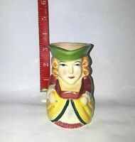 Toby Colonial Lady Ceramic Creamer Cream Pitcher Table Toby Mug Japan