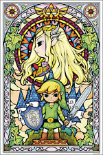 ZELDA - STAINED GLASS POSTER 24x36 - GAMING 10104