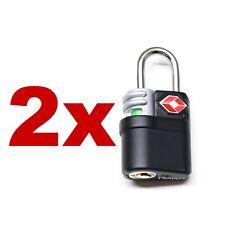 2 Pack Travel Luggage Security Safe Indicator Key Lock TSA Approved