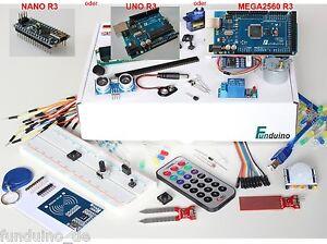 Kit für Arduino - mit UNO, MEGA oder NANO Mikrocontroller - Deutsche Anleitungen