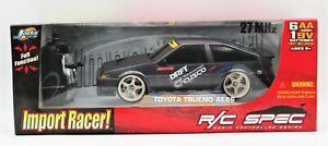Jada Toys D1 Import Racer! Toyota Trueno AE86 RC Car 1:16 Radio Control New