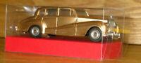 ORIGINAL 1960 DINKY MECCANO 150 ROLLS ROYCE SILVER WRAITH + CLEAR DISPLAY BOX