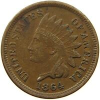 UNITED STATES CENT 1864 INDIAN HEAD #t92 327