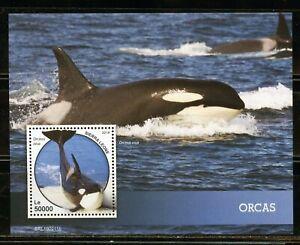 SIERRA LEONE 2019 ORCAS SOUVENIR SHEET MINT NEVER HINGED