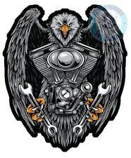 STICKER EAGLE AIGLE EMBLEME HARLEY DAVIDSON MOTO AUTOCOLLANT AB144