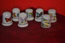 Miniaturen für Setzkasten  7 Fingerhüte Porzellan