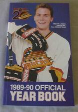 Original NHL Vancouver Canucks 1989-90 Official Hockey Media Guide