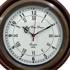 ANTIQUE BRASS NAUTICAL COLLECTIBLE MADOVERDECOR LONDON 1864 VINTAGE WALL CLOCK