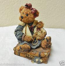 "MIB~Boyds Bears Resin""BAILEY BEAR WITH SUITCASE""1993 #02000-3 L.E 2000 VERY RARE"