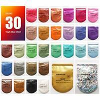 MENNYO Mica Powder 30 Colors (10g/0.35oz, Total 300g/10.5oz), Natural Pigments