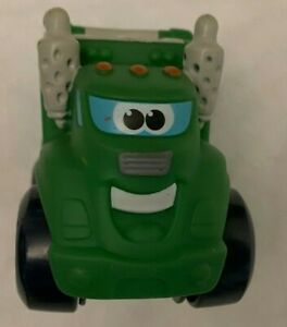 TONKA CHUCK AND FRIENDS ROWDY SOFT PLASTIC GREEN GARBAGE TRUCK GOOD CONDITION