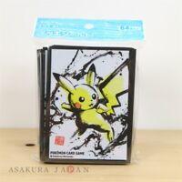 Pokemon Center Original Card Sleeve Pikachu Tail Brown frame Ver 64 2 Packs