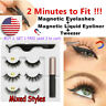 SKONHED 3Pairs 5Magnets Magnetic Eyelashes With Magnetic Eyeliner and Tweezer