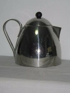 Marks & Spencer England Stainless Steel Teapot Pouring Guide Spout 4 Big Mug Siz