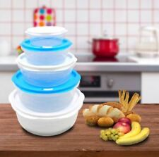 Set of 5 Plastic Food Storage with Freshness Control 5061-5 (Blue/White)