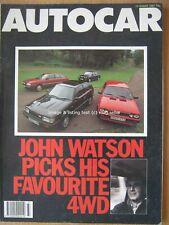 Autocar 12 August 1987 Lancia Delta HF 4WD Mazda 323 Turbo BMW 325iX Royale 90