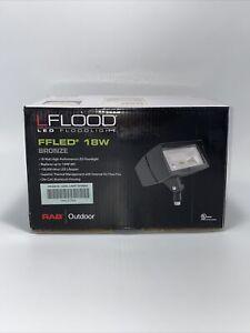 RAB Lighting   FFLED 18W   LED Flood Light   Bronze   Cool Light 5100K *****READ