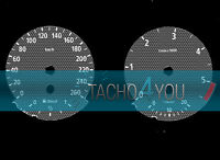 Tachoscheibe für BMW 3er E90 & 5er E60 Diesel 260 kmh km/h M3 M5 526504 Carbon