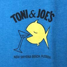 TONI & JOE'S NEW SMYRNA BEACH Florida T-SHIRT Blue 3X Souvenir Bin H