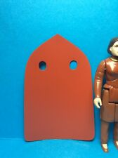 VINTAGE STAR WARS KENNER ACCESSORY-LEIA BESPIN REPRO CAPE..(RED/ORANGE VINYL)