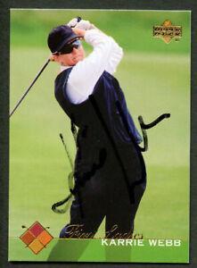 Karrie Webb #51 signed autograph auto 2003 Upper Deck LPGA Golf Trading Card