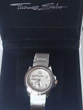 Montre THOMAS SABO neuve bracelet silicone blanc WA0145-207