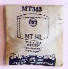 Vintage NOS G-S Crystal MT343 for GRUEN Coleman, Thorpe* 23.4 x 19.8 mm