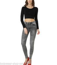 Camisas y tops de mujer de manga larga color principal negro talla XS