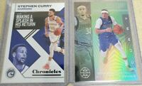 2019-2020 Illusions Chronicles Stephen Curry + Seth Curry #92 Emerald Parallel
