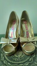DUNE Head Over Heels golden size 37 UK 4 good condition