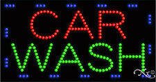 "NEW ""CAR WASH"" 32x17x1 SOLID/ANIMATED LED SIGN w/CUSTOM OPTIONS 21058"
