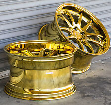 19X9.5 +25 AodHan DS02 5X120 Vacuum Gold 19 Inch Rims Set 4