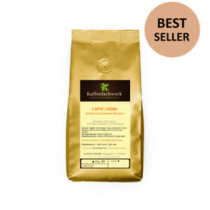 Caffe Crema Kaffee ganze Bohnen ♥ mit 1.700+ Verkäufen Kaffeefachwerk Bestseller
