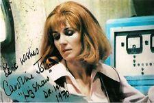 CAROLINE JOHN DR WHO LIZ SHAW SIGNED AUTOGRAPH 6 x 4 PRE PRINTED JON PERTWEE ERA