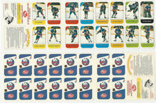1982 Post, Hockey Playing Cards Panel, Islanders, Potvin, Gilles, Bossy, ZQL