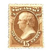US Official Stamps Scott#O79 15c Unused OG M H CV $300