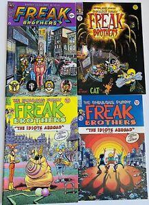 Vintage Fabulous Furry Freak Brothers Comic Book Lot #4, 7, 9 & 10 Rip Off Press