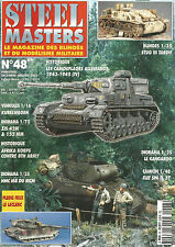 STEEL MASTERS N° 48 STUG III TARDIF / KUBELWAGEN / ZIS 42M / AFRIKA KORPS / HMC
