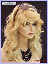 PREMIUM REMY HUMAN HAIR SKIN TOP WIG  BEACHY WAVES STYLE *CLR F14/24 *NIB 256