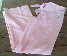 Epic Pink 10 Dress Pants Fabric Tie Waist NWT Lining Side Small Zip No Pocket