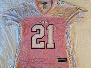 Dallas Cowboys Ladies Large Pink/Light Pink Reebok for NFL Julius Jones Jersey